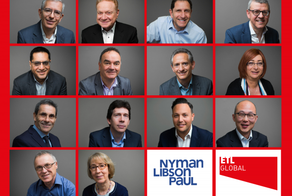 ETL is delighted to add Nyman Libson Paul to their extensive portfolio.